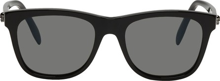 Alexander McQueen Black Shiny Square Sunglasses