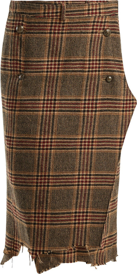 Vetements Tweed checked pencil skirt