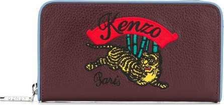 KENZO Snake embossed embroidered wallet
