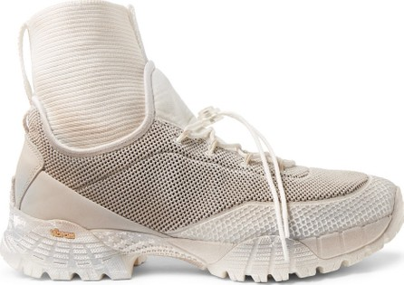 Roa Daiquiri Leather-Trimmed Mesh and Ribbed-Knit High-Top Sneakers