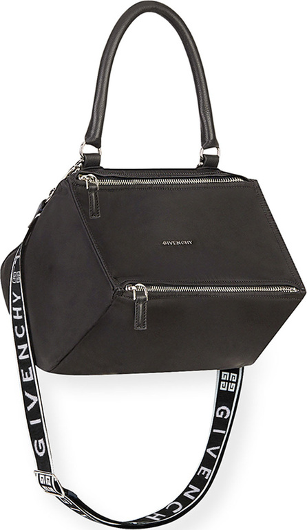 Givenchy Pandora Small Fabric Satchel Bag with Logo Strap