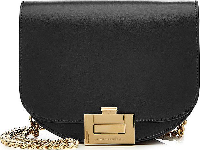 Victoria Beckham - Nano Half Moon Box Leather Shoulder Bag