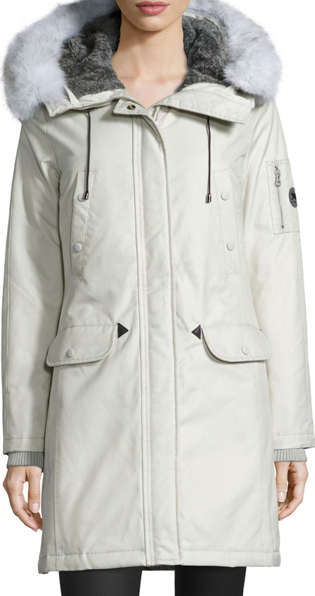 Spiewak Aviation Fur-Hood Parka Coat