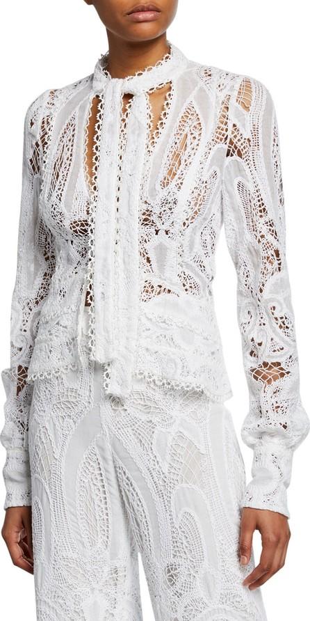 Alexis Durham Tie-Front Lace Blazer