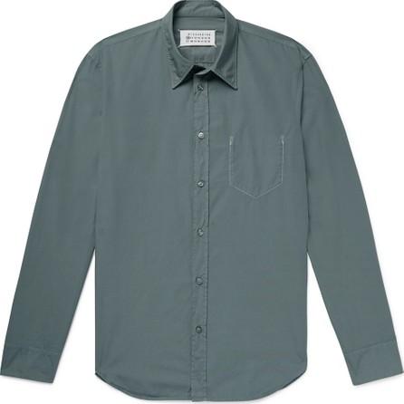 Maison Margiela Slim-Fit Garment-Dyed Cotton-Poplin Shirt