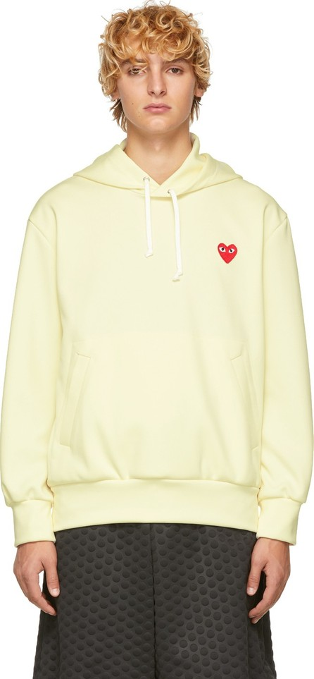 Comme Des Garcons PLAY Off-White Heart Patch Hoodie