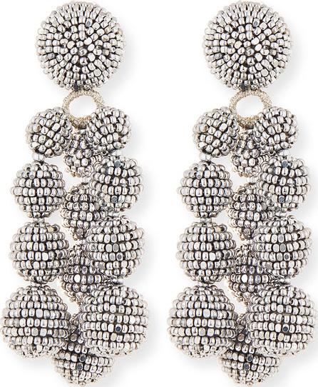 Sachin & Babi Trinity Beaded Clip Earrings