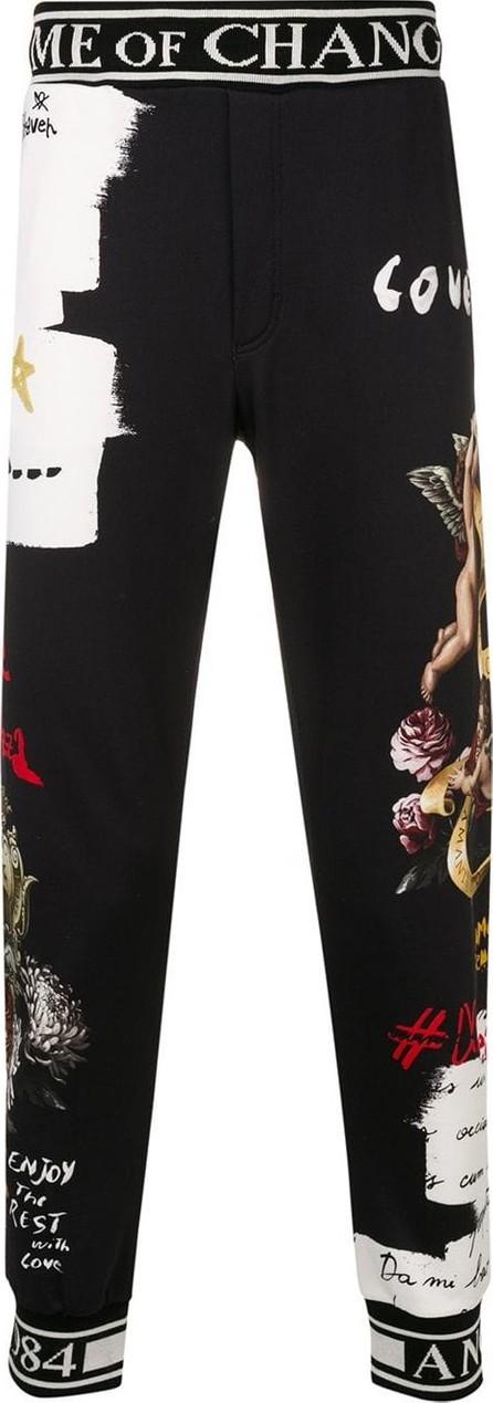 Dolce & Gabbana Cherub print track pants