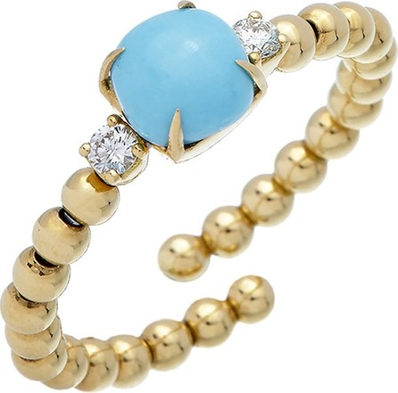 Istanboulli Gioielli Milano Taormina 18k Diamond & Turquoise Ring, Size 6