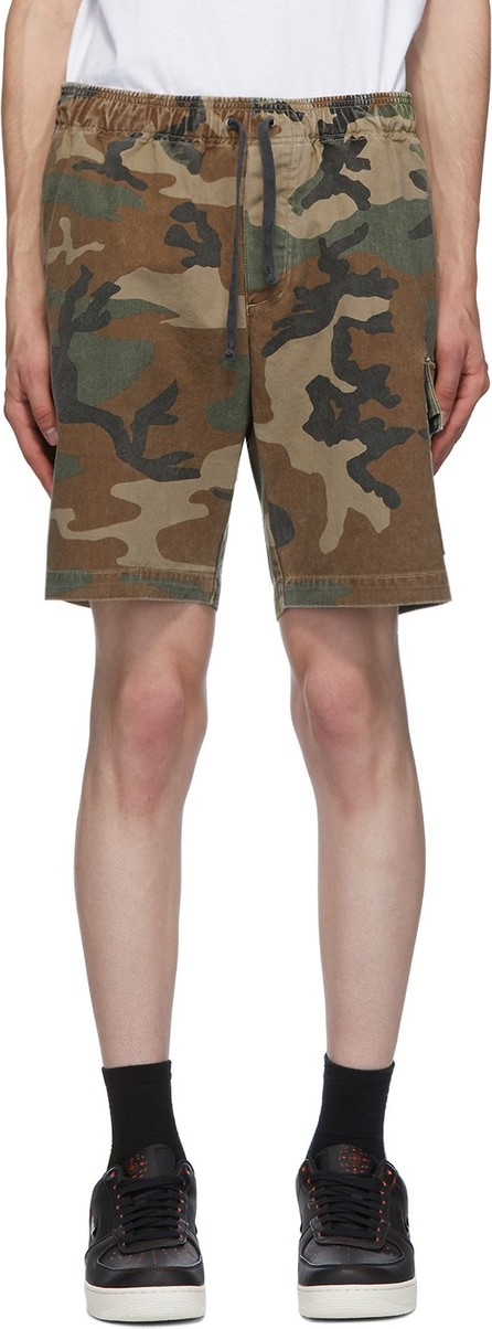 John Elliott Green Utility Cargo Shorts