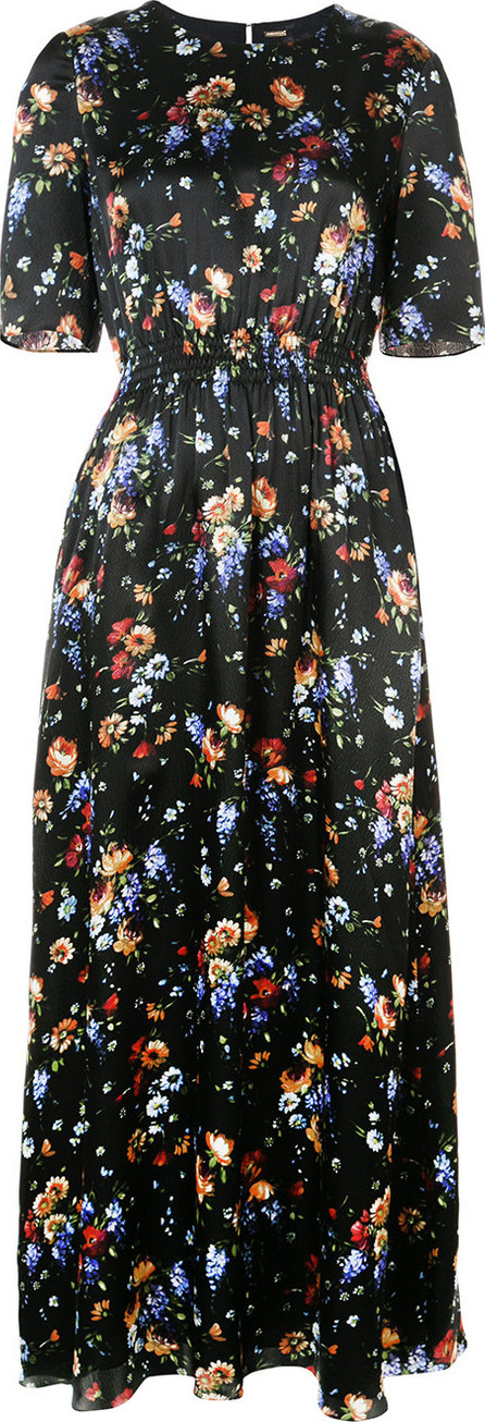 Adam Lippes Floral-print smocked maxi dress
