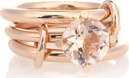 Spinelli Kilcollin Atria 18kt rose gold link rings with morganite