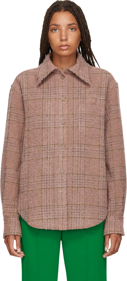 Acne Studios Pink & Brown Checked Shirt