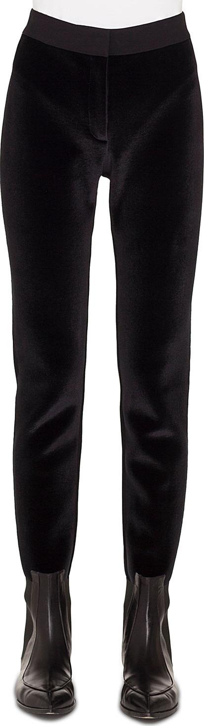 Akris Punto Velvet-Front Jersey-Back Tapered Leg Pants