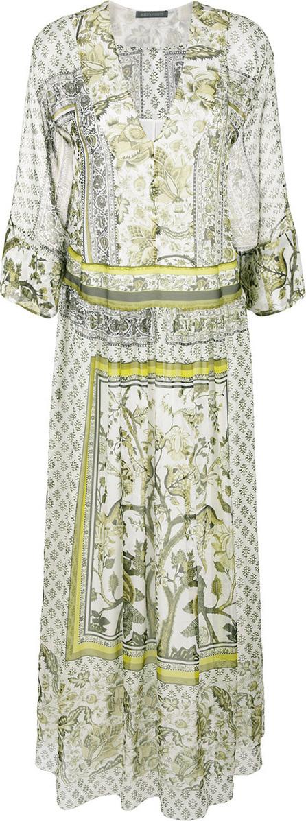 Alberta Ferretti Printed maxi tunic dress