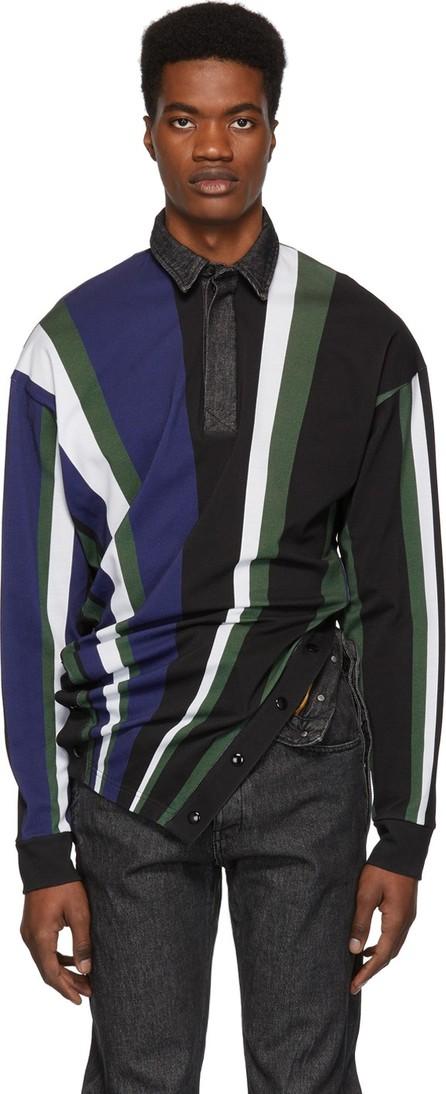 Diesel Red Tag Multicolor Glenn Martens Edition Striped Piqué Polo