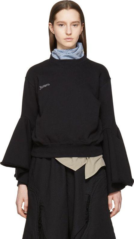 FACETASM Black Flare Trainer Sweatshirt