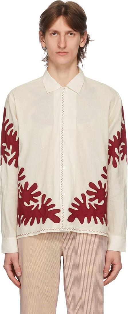 Bode White Cut-Out Appliqué Shirt