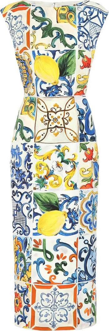 Dolce & Gabbana Majolica stretch silk dress