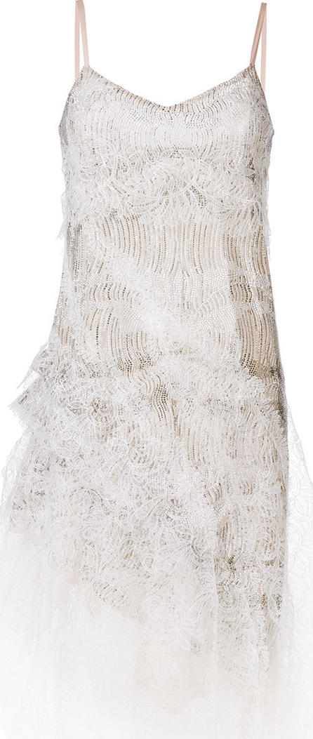 Ermanno Scervino Embellished lace detail dress