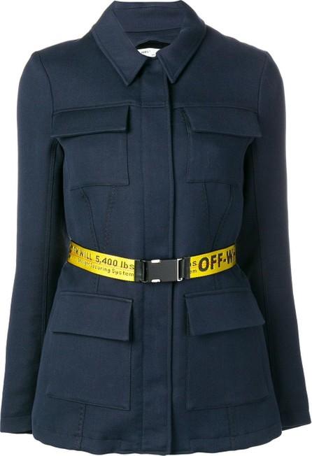 Off White Overshirt belted jacket