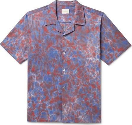 Aimé Leon Dore Camp-Collar Tie-Dyed Cotton-Blend Seersucker Shirt