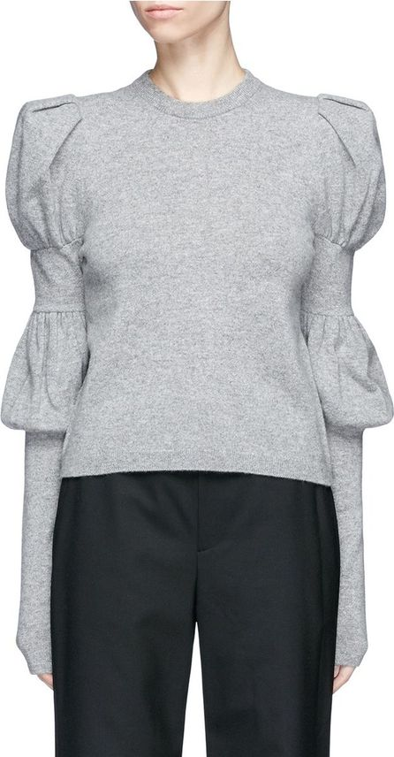 ADEAM Puffed bishop sleeve cashmere sweater