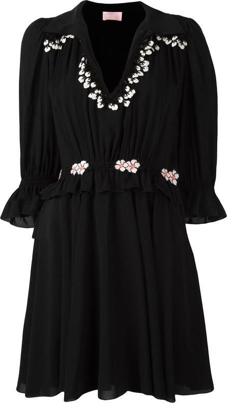 GIAMBA embroidered ruffle dress