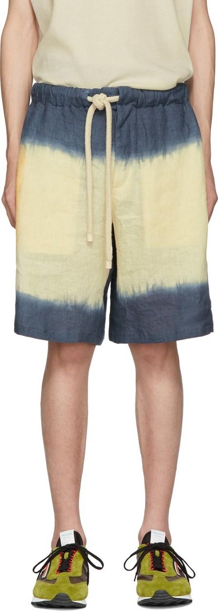 LOEWE Navy & Yellow Tie Dye Shorts