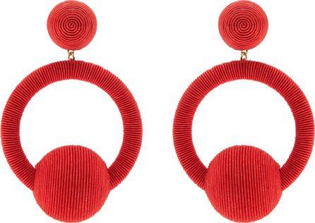 Rebecca de Ravenel Linda hoop-drop earrings