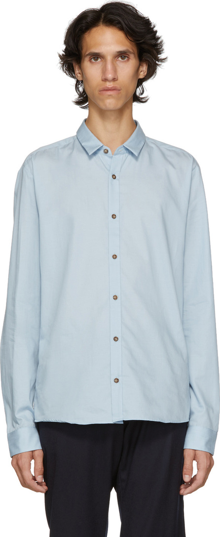 HUGO Blue Poplin Slim Shirt