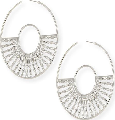 Auden Diego Hoop Earrings, Silver