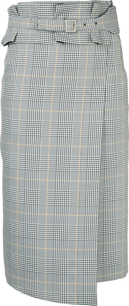 Aula Checked midi skirt