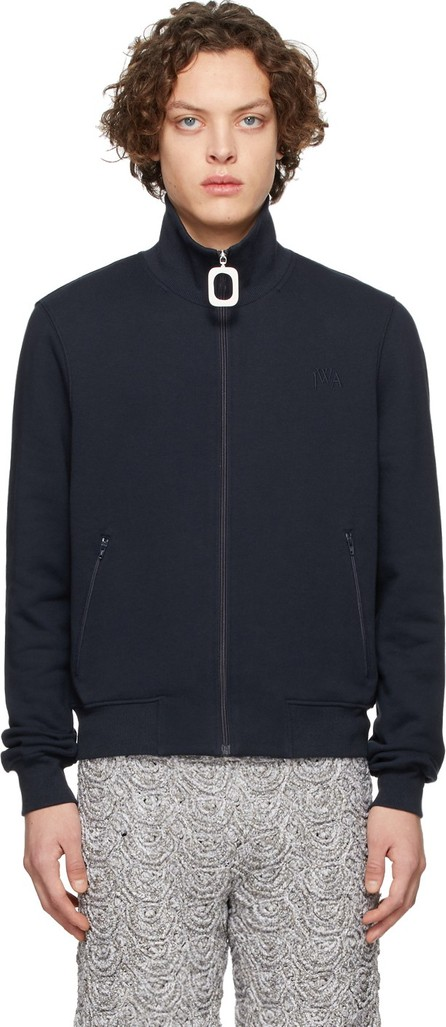 J.W.Anderson Navy Neckband Track Sweater
