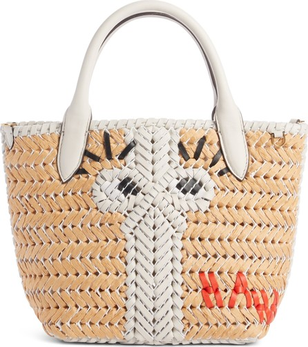 Anya Hindmarch Neeson - Eyes Woven Straw Tote