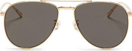 BLANC & ECLARE 'Miami Large' metal aviator sunglasses