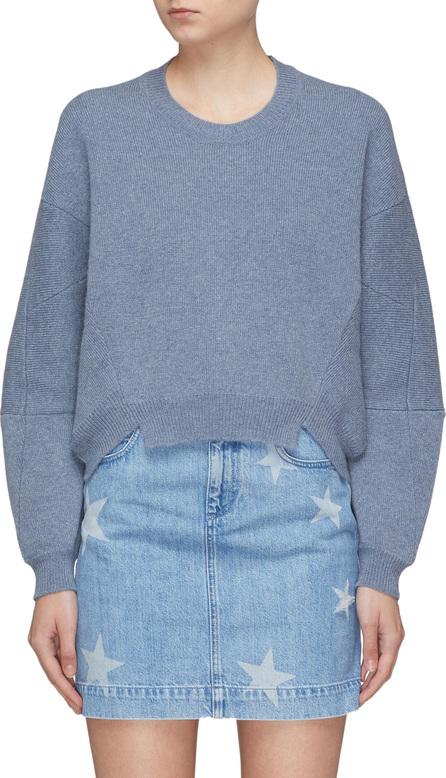 Stella McCartney Staggered hem seamed sleeve oversized sweater