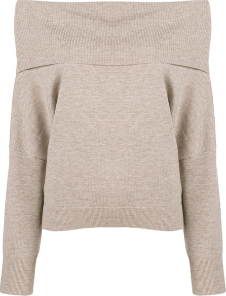 Chalayan Off-the-shoulder knitted sweater