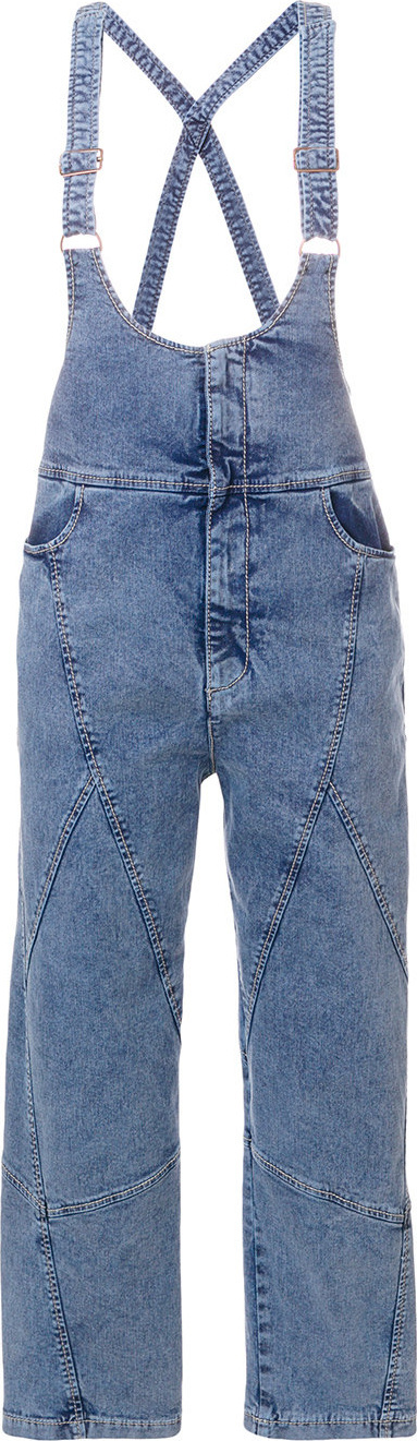 See By Chloé Cropped denim dungarees