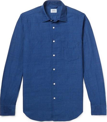 Aspesi Slim-Fit Garment-Dyed Linen and Cotton-Blend Shirt