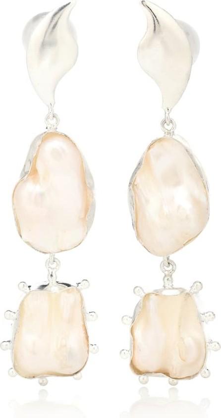 Peet Dullaert Eos 14kt white gold plated pearl earrings
