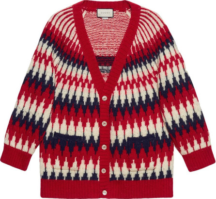 Gucci Zigzag jacquard organic-wool cardigan