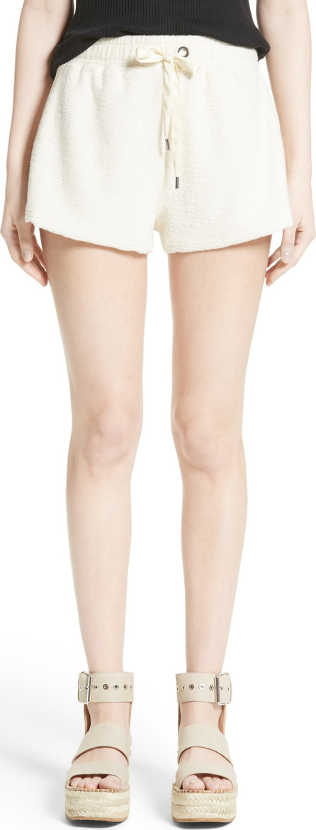 Rag & Bone Max Silk Trim Cotton Terry Shorts