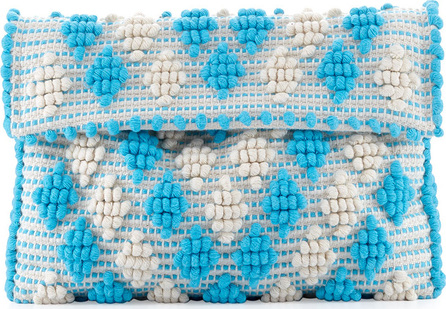 Antonello Tedde Suni Woven Clutch Bag with Strap