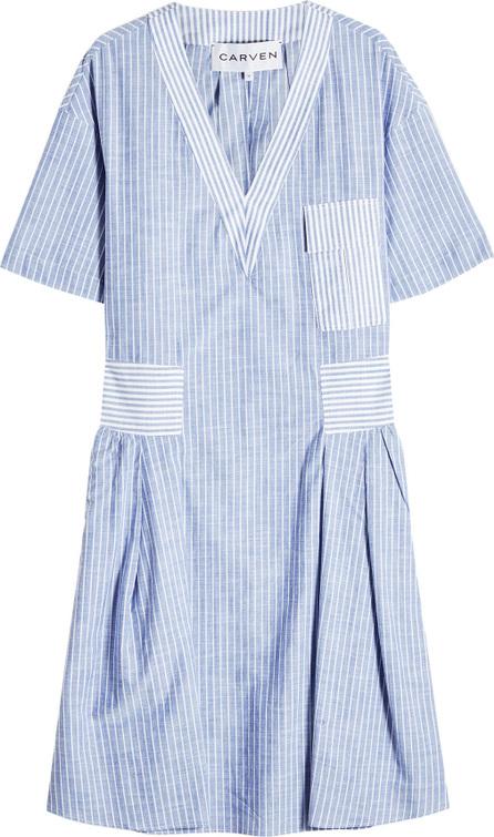 Carven Striped Cotton Tunic Dress