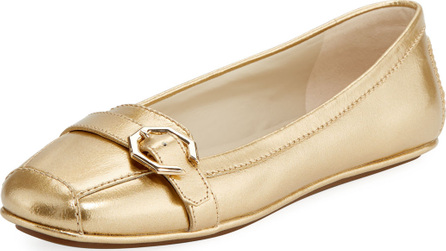 Cole Haan Demi Metallic Flat Driver, Gold