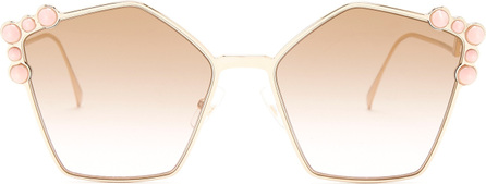 Fendi Cat-eye embellished sunglasses