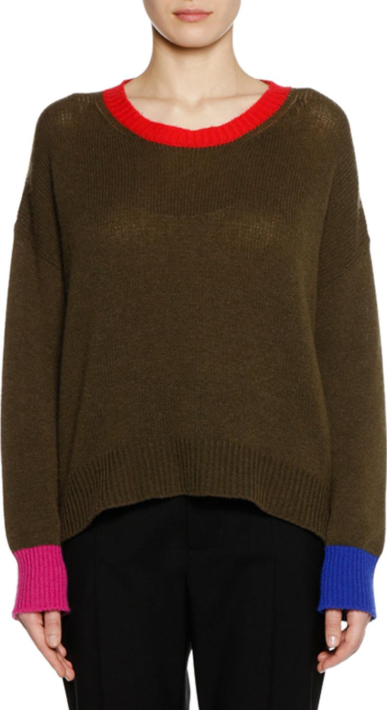 Marni - Crewneck Long-Sleeve Cashmere Knit Sweater