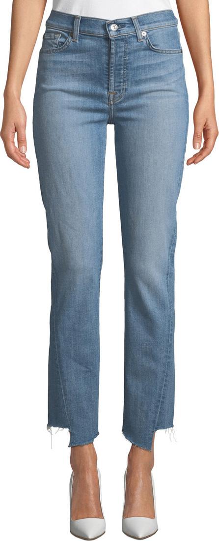 7 For All Mankind Edie Straight-Leg Spliced-Hem Jeans