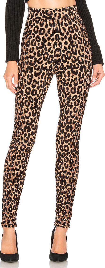 MILLY Textured Cheetah Knit Legging